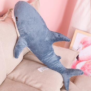 Мягкая игрушка Акула синяя 70см