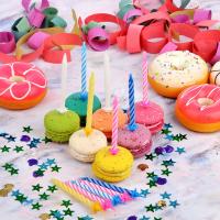Свечи для торта 24 шт, 4 цвета
