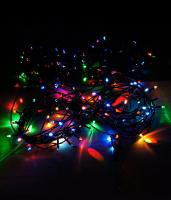 Гирлянда 140 ламп (черные провода)
