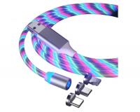 Кабель USB магнитный светящийся