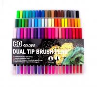 Набор маркеров для скетч рисунков Dual Tip Brush Marker 60шт