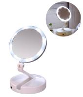 Зеркало складное с подсветкой My fold away mirror(треснут)