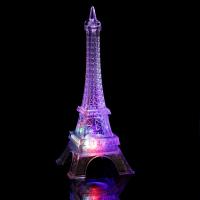 "Ночник акрил ""Эйфелева башня"" LED RGB 3хAG13 7х7х18 см   3516412"