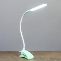 """Лампа на прищепке """"Змейка"""" 1Вт 14 LED USB зеленый 9х3,5х42 см   3973188"""