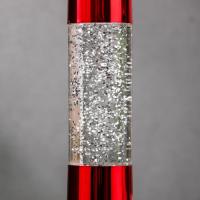 """Светильник ночник Лава """"Тубус хром"""", 17 см (от бат. 3хLR44) красный блеск 537114"""