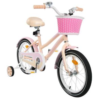 """Велосипед 18"""" Graffiti Flower, цвет персиковый/розовый, набор стикеров-наклеек в комплекте"""