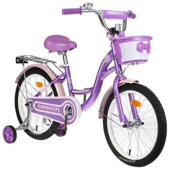 """Велосипед 18"""" Graffiti Premium Girl, цвет сиреневый/розовый 4510732"""