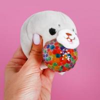 Набор для творчества «Мялка с растущими шариками: Морской котик»