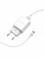 Зарядное устройство BOROFONE BA20A 2.1A USB + кабель iPhone 5/iPad
