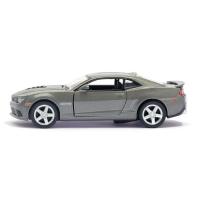 Машина металлическая Chevrolet Camaro, 1:38, открываются двери, инерция, цвет белый