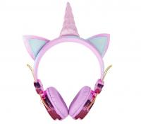Беспроводные наушники с ушами HEADPHONES WIRELESS + UNICORN (свеетящ.рог)