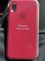 Чехол для iPhone X App Silicone Case Lux (Rose Red)