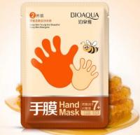 Медовая восстанавливающая маска-перчатки для рук Bioaqua