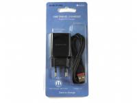 Зарядное устройство BOROFONE BA20A 2.1A USB + кабель iPhone 5/iPad Black