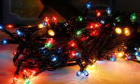 Гирлянда 100 ламп (черные провода)