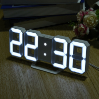 Часы настенные / настольные электронные цифровые светодиодные белые