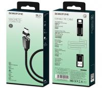 Магнитный кабель Borofone micro USB BU1 1.2m