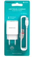 Зарядное устройство BOROFONE BA20A 2.1A USB + microUSB