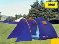 Палатка 4 местная  с козырьком и тамбуром.Размеры внешней палатки (ДхШхВ) 410x210x175 см.Размеры внутренней палатки (ДхШхВ) 230x210 см Плотный не продуваемый, водонепроницаемый материал 3000 мм осадков