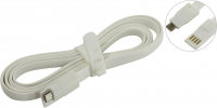 Кабель USB - microUSB Smartbuy 1.2m магнитный White