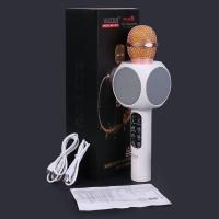 Беспроводной караоке микрофон Wster WS-1816 с Led подсветкой