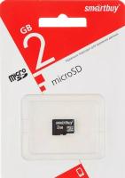 Карта памяти  microSD Smartbuy 2 Gb (без адаптера)