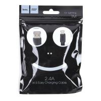 Кабель USB - lightning HOCO X13 1м силиконовый Black