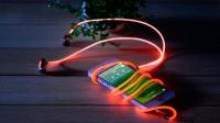 Светящиеся вакуумные металлические наушники Glow с EL свечением гильза