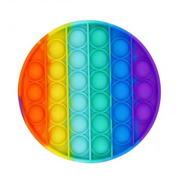 Сенсорная игрушка антистресс POP it Fidget с пузырьками Вечная пупырка радужный