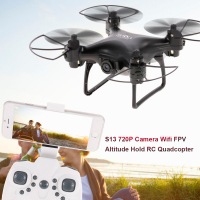 Квадрокоптер S13 720P камера Wi-Fi FPV 6-осевой гироскоп  RC Quadcopter Drone