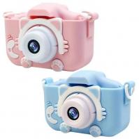 Детский фотоаппарат в чехле Котик